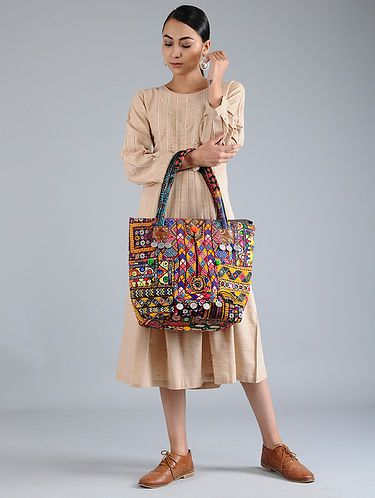 4b24e9d7b52 Multicolored Thread-Embroidered Tote with Mirrors And Coins | Stuff ...