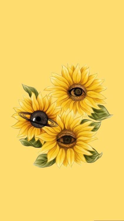 Eyeflower Sunflower Wallpaper Flower Wallpaper Eyes Wallpaper