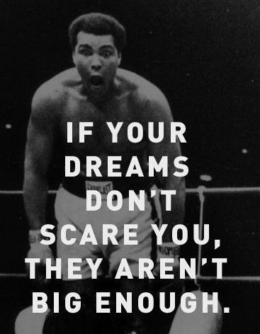 Quotes by Muhammad Ali. Muhammad Ali, a great boxer, an aspirational activist and an aspiring philanthropist, has motivated the people with his sayings and quotes for quite a long time. Best Inspirational Quotes, Great Quotes, Quotes To Live By, Dream Big Quotes, This Is Me Quotes, Best Quotes Of All Time, Citation Mohamed Ali, Muhammad Ali Quotes, Motivacional Quotes