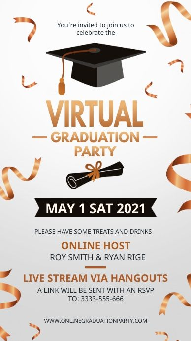 White And Gold Online Graduation Party Invite In 2021 Graduation Party Invitations Party Invite Template Party Invitations
