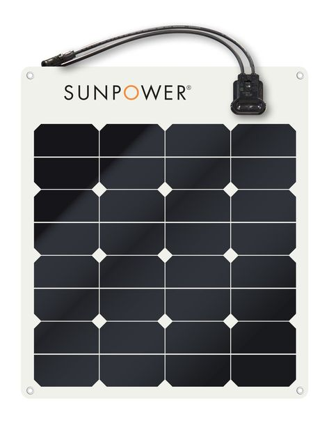 Sunpower 50 W Flexible Marine panneau solaire