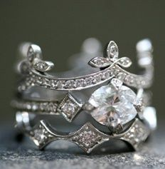 Antique French wedding ring. --- So gorgeous <3