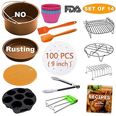 Amazon Com Xl Air Fryer Accessories Set Of 14 For Gowise
