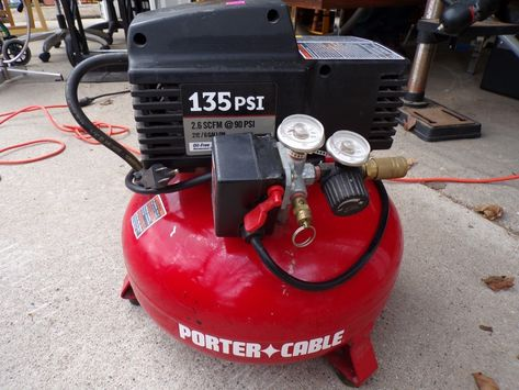 Portercable 135psi Air Compressor With Images Compressor