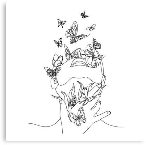 Art Drawings, Art, Line Art Drawings, Line Art Tattoos, Face Art, Nature Symbols, Abstract Face Art, Drawings, Line Art