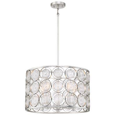 Ladwig 5 Light Candle Style Drum Chandelier Drum Chandelier Drum Pendant Chandelier