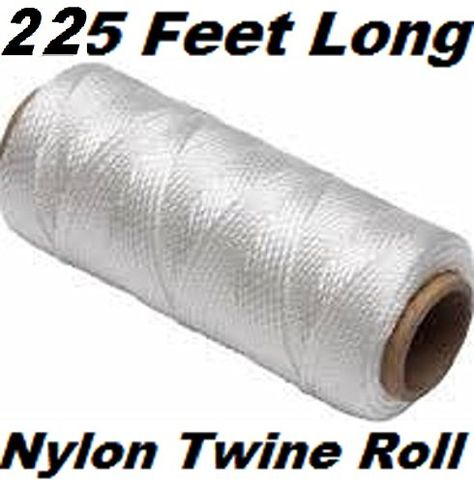 Gardening Nylon Twine 225 FT Bundling Nylon Twine Roll Solid Braided 225 Feet Long for Industrial Fishing Decorations Worksite /& Household Use Wrapping Packaging Gifts Hobby Arts /& Crafts