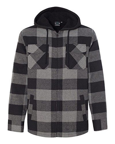 New Burnside Men S 8620 Plaid Quilted Lined Flannel Full Zip Hooded Jacket Online Mens Clothing Styles