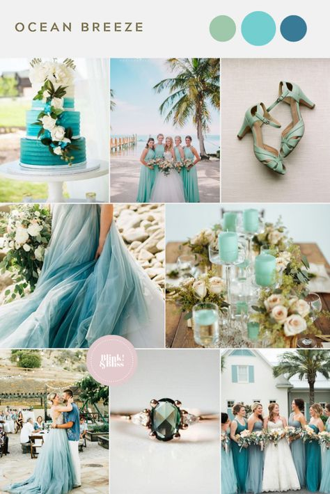 Mint and aqua wedding colors for a summer wedding on the beach! Mint and aqua wedding colors for a summer wedding on the beach!