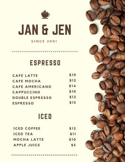 Canva Cafe Menu Templates Canva 51d82f09 Resumesample Resumefor Desain Desain Kemasan