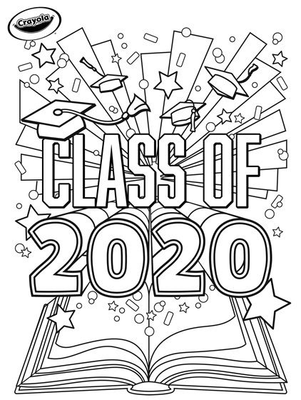 Class Of 2020 Graduation Crayola Com Coloring Pages Free Coloring Pages Crayola Coloring Pages