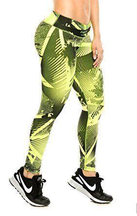 780d40e86c94e Fiber Leggings Womens Yoga Pants Compression Tights (blue knit) at Amazon  Women's Clothing store