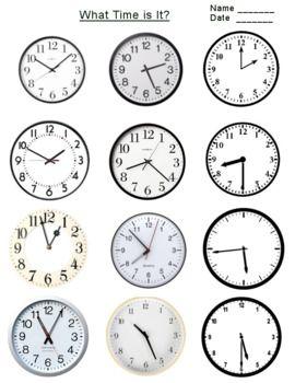Free Telling Time On Clock Flashcards Worksheet K 3 Clock