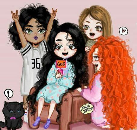 Pin De Melany Campozano En Hermanitas Ilustracion De Amigos