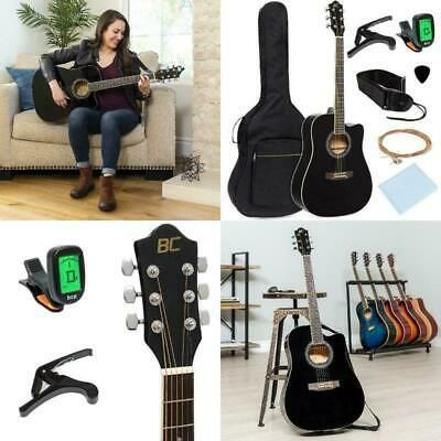 Full Size Beginner Acoustic Cutaway Guitar Set Case Strap Guitar Case Guitar Accessories Acoustic Electric Guitar