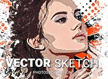 Vector Sketch Photoshop Action Free Sketch Photoshop Free