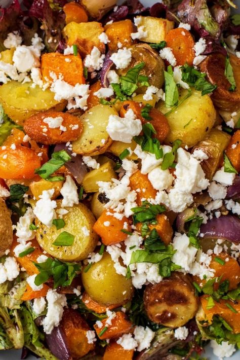 Roasted Vegetable Salad, Vegetable Salad Recipes, Healthy Salad Recipes, Roasted Vegetables, Vegetable Dishes, Simple Vegetable Recipes, How To Cook Vegetables, Simple Salad Recipes, Easy Recipes