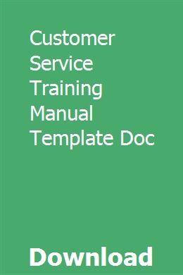 Customer Service Training Manual Template Doc Customer Service