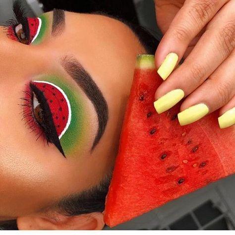 #repost Inspired watermelon makeup 😍🍉🍉 #makeup #eyeshadow #watermelon
