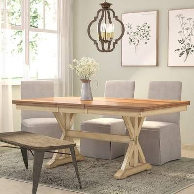 Fleur Upholstered Bench Dining Table In Kitchen Solid Wood
