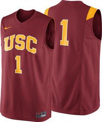 half off ec85d 608ea USC Trojans Crimson Nike Replica Basketball Jersey ...