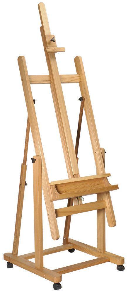 Mont Marte Floor Easel Tilting Studio Easel W Castor Wheels Can Lie Flat Beech Wood Derevyannye Proekty Molbert Komnata Dlya Remesla