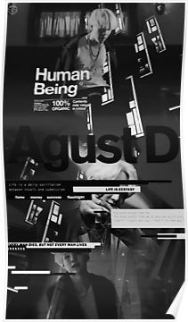 Agust D Black Poster Bts Wallpaper Bts Yoongi Min Yoongi Wallpaper