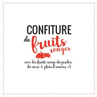 Etiquette Confiture De Fruits Rouges Typographeuse Blog Etiquette Confiture Etiquettes De Pot Confiture