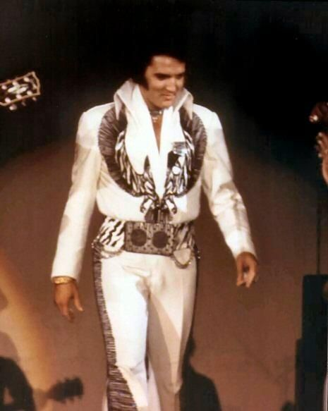 Elvis making his stage entrance. When the music began, it felt like your heart was going to jump out of your chest. It's hard to describe the feeling of seeing Him in person.
