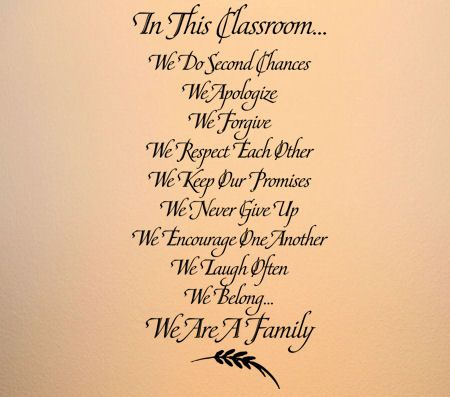 In This Classroom II Wall Decals