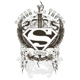 Superman Stylized Honor Truth On White Logo Superman Coloring Pages Superman Tattoos Superman