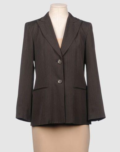 ¡Cómpralo ya!. DKNY Americana mujer. chaqueta recta, tejido, estampado a rayas, cuello con solapas , 2 botones, dos bolsillos delanteros, grabadas, manga larga, puños con un botón , interior forrado, tallaje grande , americana, americana, blazer, americanas, blezer, frock-coat, jackett, blazers, vestedecostume, americana, blazers. Americana  de mujer color marrón oscuro de Dkny.