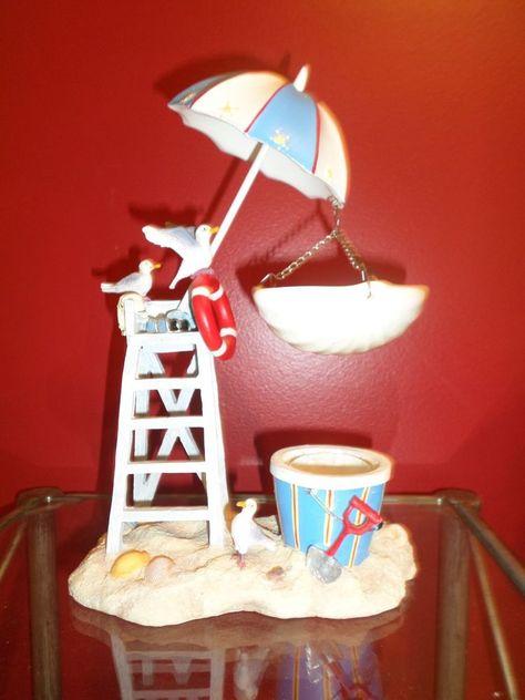 Yankee Candle Tart Warmer / Burner Beach Theme Seagulls CUTE