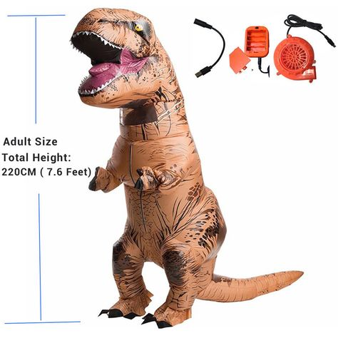 Inflatable T REX Costumes Adult Kids Dinosaur Blow Up Fancy Dress Mascot Cosplay