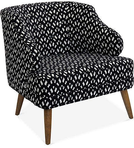 Courtney Accent Chair Black White Accent Chairs White Accent