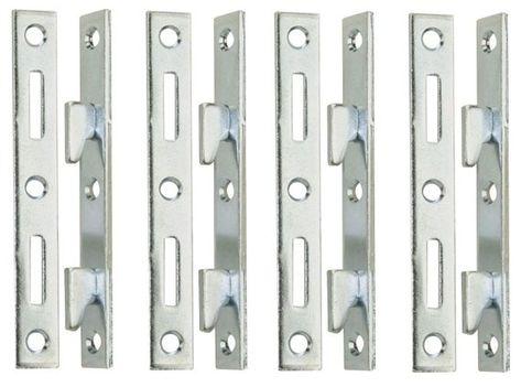 5 Wood Bed Rail Furniture Hook Zinc Metal Fasteners 4 Bracket