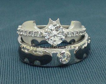 Batman Wedding Rings For Her Batman Wedding Rings For Him And Her Wedding Gallery
