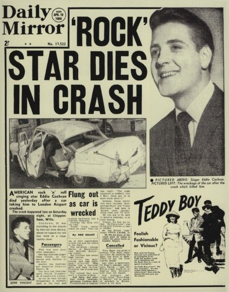 「eddie cochran died news」の画像検索結果