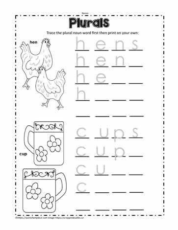 Plural Worksheets For Kindergarten Print The Plural Words Worksheets In 2020 Kindergarten Worksheets Kindergarten Worksheets Printable Plurals Worksheets