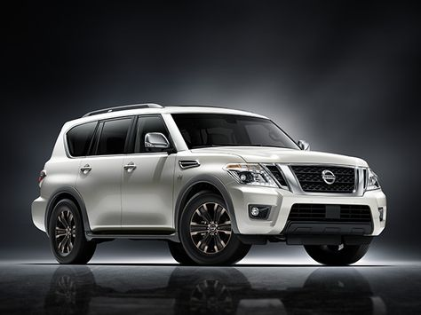 2017 Nissan Armada Exterior shown in Pearl White