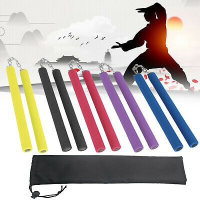 Safety Nunchakus Martial Arts Foam Nunchucks Training Tool Stage Performance B5