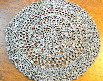 Extra Large Round Crochet Giant Rug Carpet Living Room Etsy Rugs On Carpet Doily Rug Living Room Carpet