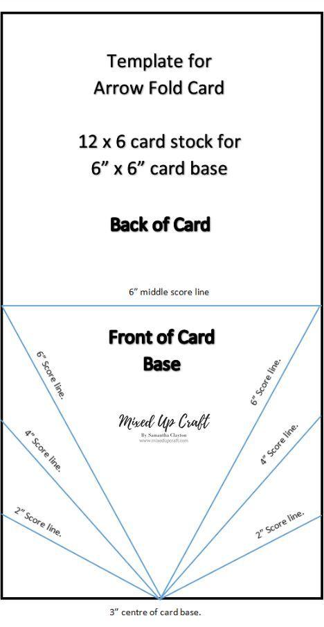 Arrow Fold Card Fancy Fold Card Tutorials Card Making Templates Card Making Tutorials