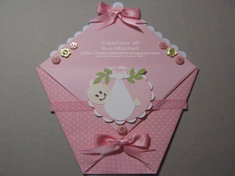 Baby Girl  Diaper-fold Gift Card Holders