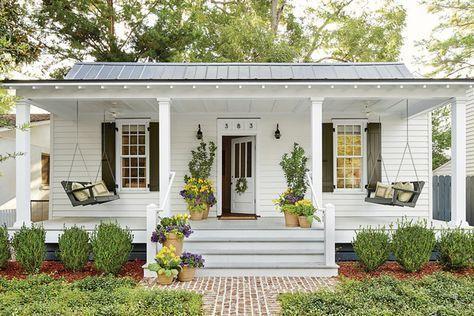 48 Awesome Small Front Porch Design Ideas Garden And Outdoor Awesomesmallfront Porchdesignideas House Exterior House Front Tiny House Design