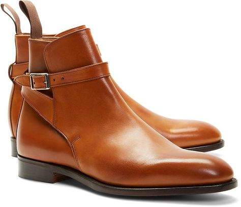 Peal & Co.® Leather Ankle Strap Buckle Boots