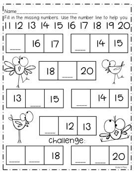 Number Book 11 20 Printables Center And More Kindergarten Math Worksheets Kids Math Worksheets Kindergarten Math