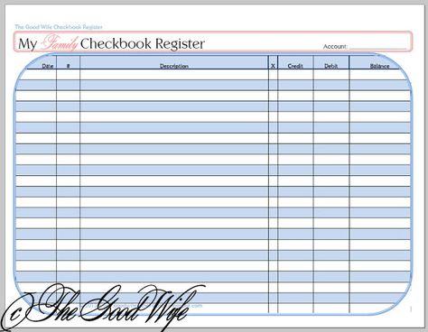 Checkbook Register - Clean Mama Printablespdf - Google Drive - check register