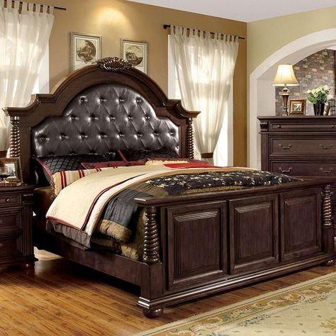 Furniture Of America Esperia 4 Piece Bedroom Set Mobilier Lit