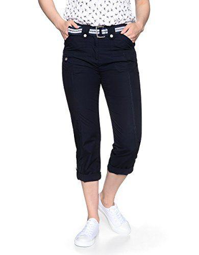 Bexleys By Adler Mode Damen 7 8 Papertouchhose Mit Gurtel Belt Bauchweggurtel Ledergurtel Stoffgurtel Navy 22 7 8 Pa Fashion Capri Pants Fashion Accessories